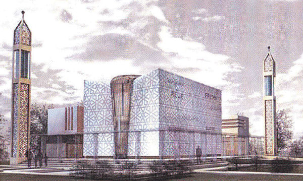 artist's impression of the proposed mosque in Norderstedt, Germany by Selcuk Unyilmaz
